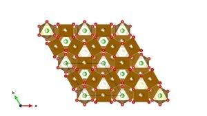 Kristallstruktur von Parahibbingit